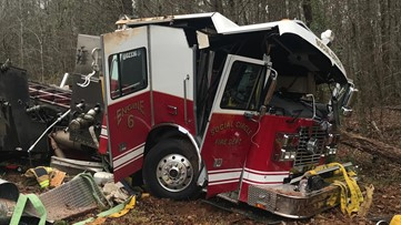 Georgia firefighters injured in serious crash
