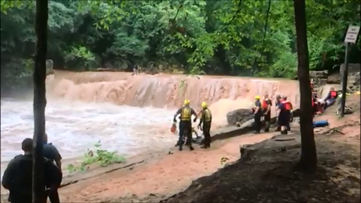 WATCH: Daring rescuers nab 10 children from perilous rapids in Gwinnett
