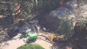 Street closed in Buckhead due to sinkhole