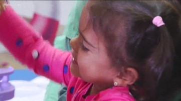 3-year-old amputee gifted with legs