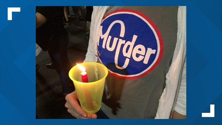 Murder Kroger shirt vigil