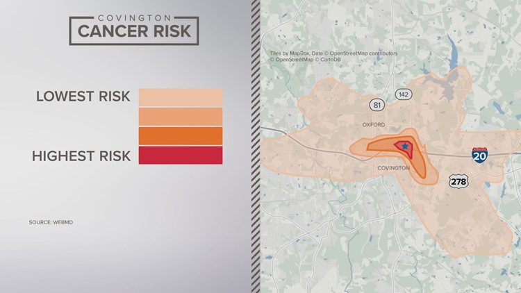 covington cancer risk map
