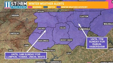 Winter Weather Advisory will be in effect this weekend for these Georgia counties