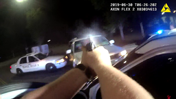 Bodycam: Officer opens fire on escaping driver after performing PIT maneuver