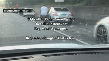 911 calls: There's money on the highway