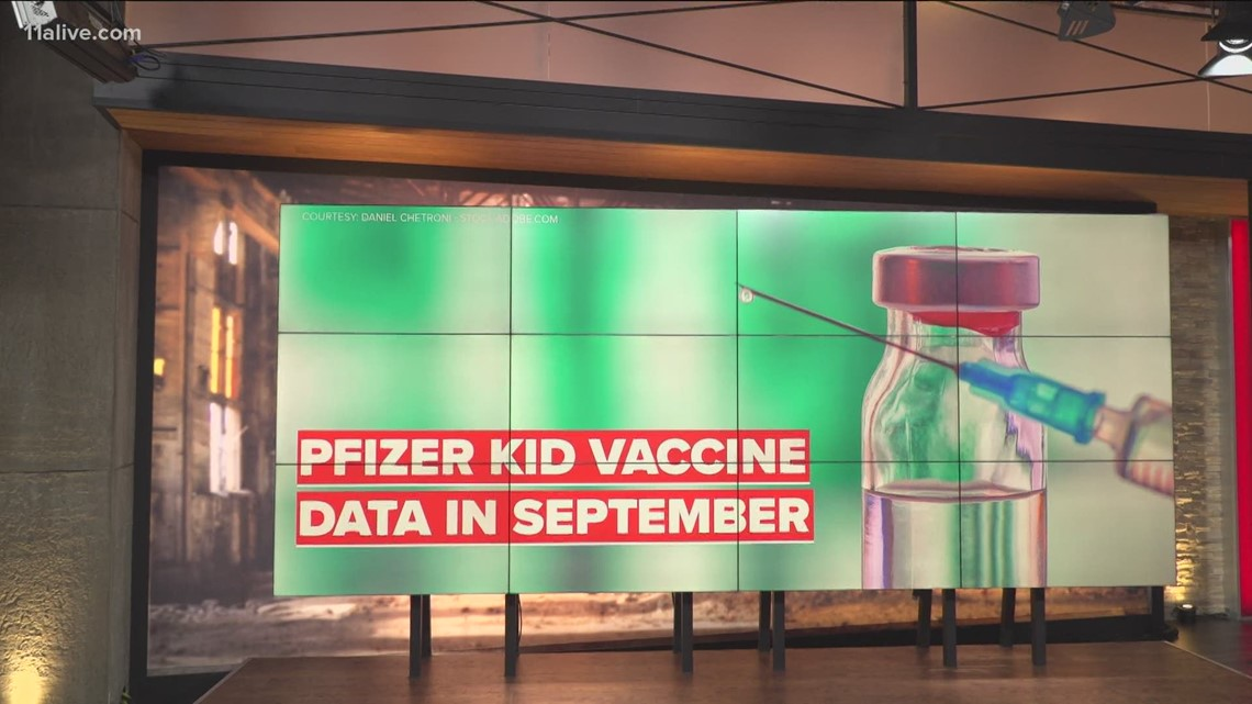 Pfizer: Vaccine data on young kids expected by end of September