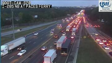 Fatal wreck causes major backups on I-285EB at the I-75 exit