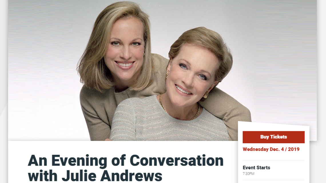 Busy week at Cobb Energy Centre begins with 'Mary Poppins' actress, Julie Andrews