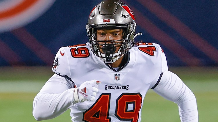 Bucs' Cam Gill drops in virtually with Douglas Co. class days after Super Bowl win