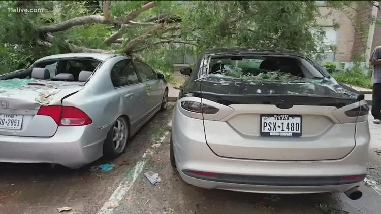 Hurricane Nicholas flooding   Texas residents feel the impact with widespread rain, heavy wind
