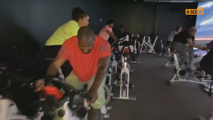 Kanye West crashes cycling class at Fayetteville gym