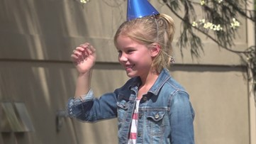 Social distancing 'drive-by birthday surprise'