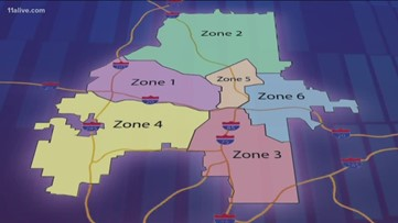 Here are the changes to Atlanta's six zones