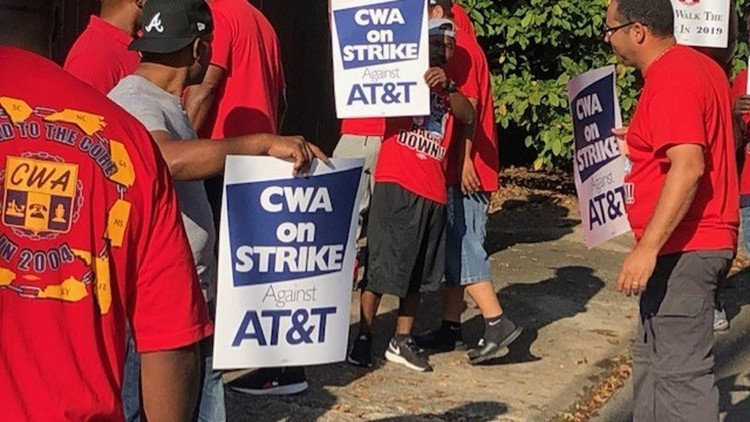 AT&T workers go on strike across the Southeast alleging unfair labor practices