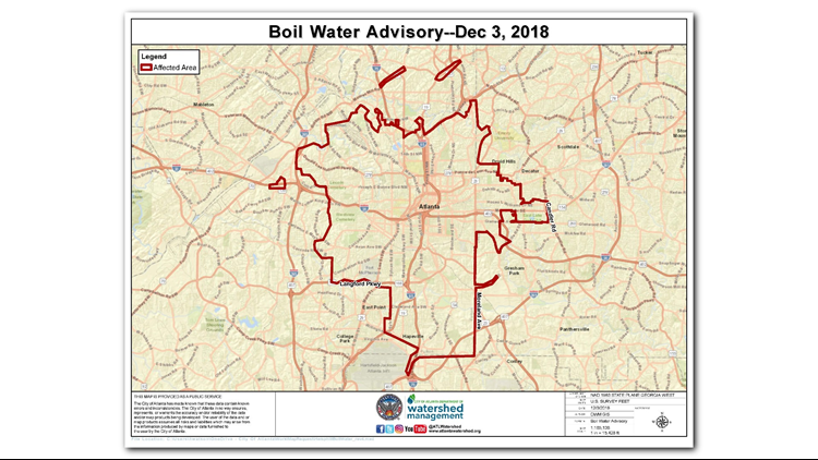 Hemphill water map