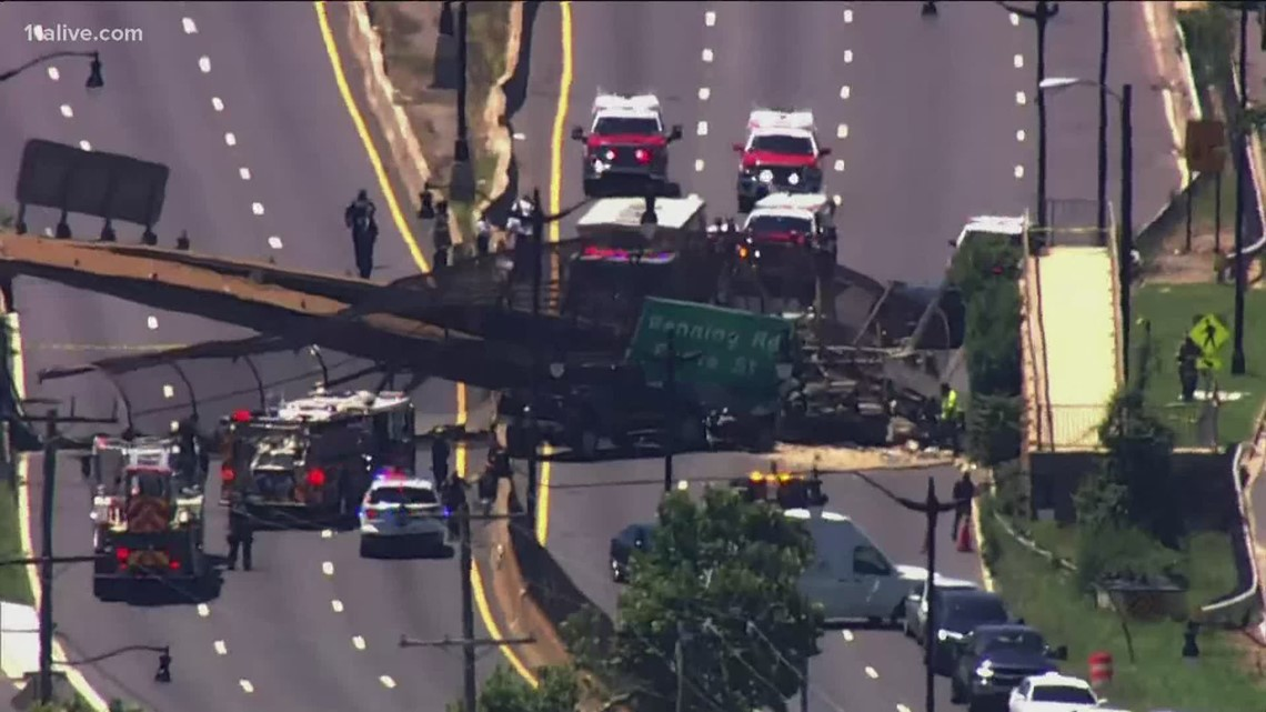 Several hurt after pedestrian bridge collapses in Washington D.C.