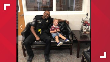 Off-duty police officer saves choking child