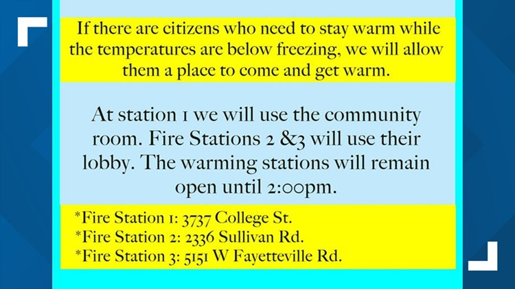 College Park warming stations