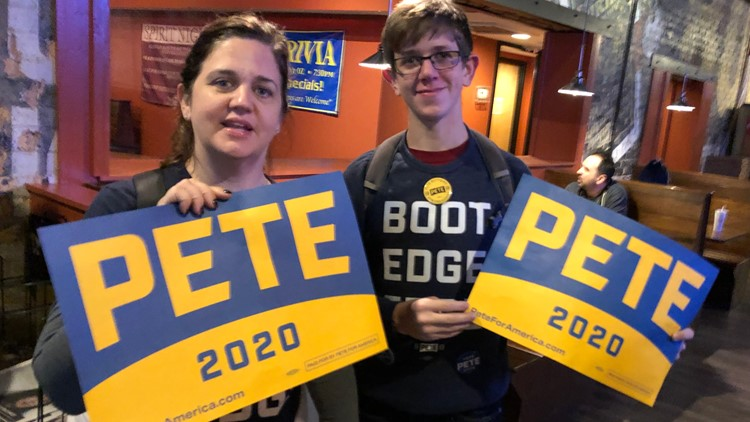 Watch party for Presidential hopeful Pete Buttigieg