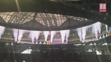 Atlanta United unveil championship banner