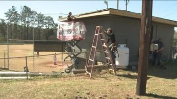 Volunteers clean up aver vandals strike local park