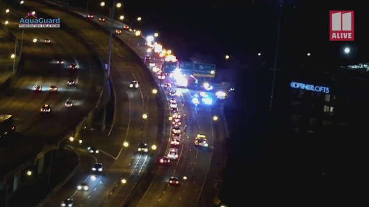 11Alive Tower Cam: Deadly accident on Buford-Spring Connector