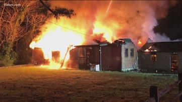 American Legion building goes up in flames