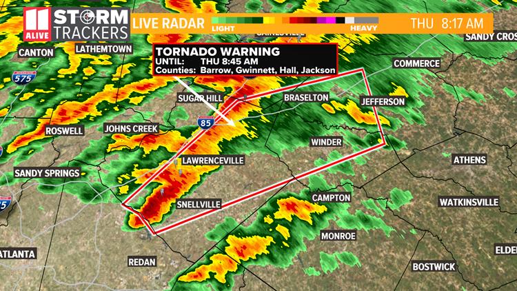 Tornado Warning Map