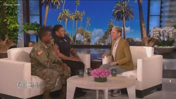 Ellen surprises Atlanta resource officer, her soldier son with $30K and a new car