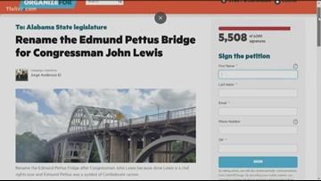 Online petition to rename Edmund Pettus Bridge after John Lewis surpasses 5,000 signatures