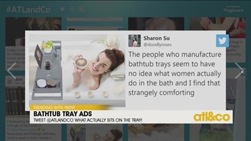 Bathtub Tray Ads