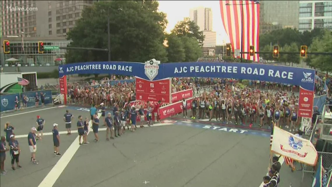 The start line of AJC Peachtree Road Race