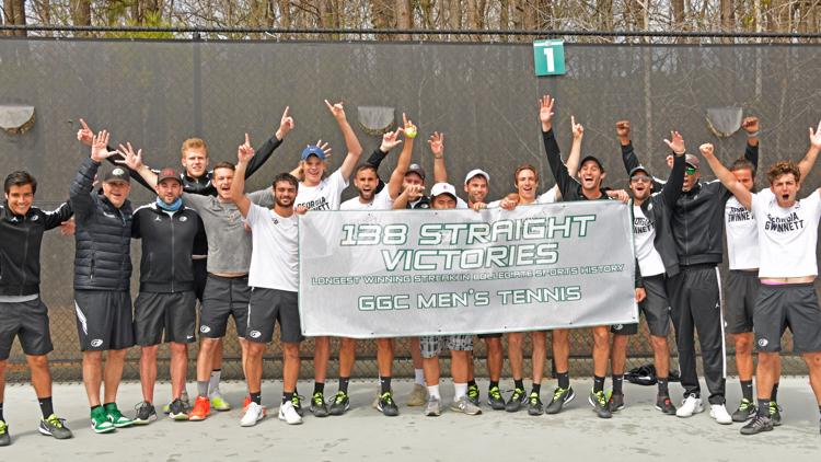 Georgia Gwinnett College tennis team breaks record for most consecutive wins in college sports history