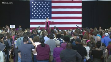 Presidential candidate Elizabeth Warren campaigns near Atlanta