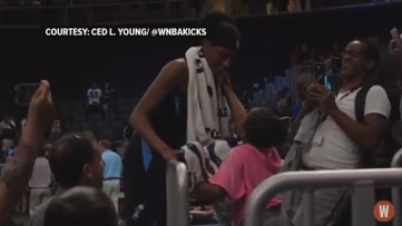 9-year-old Atlanta Dream fan brought to tears after receiving surprise from player
