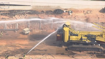 Crane collapse causes fire on Alpharetta construction site