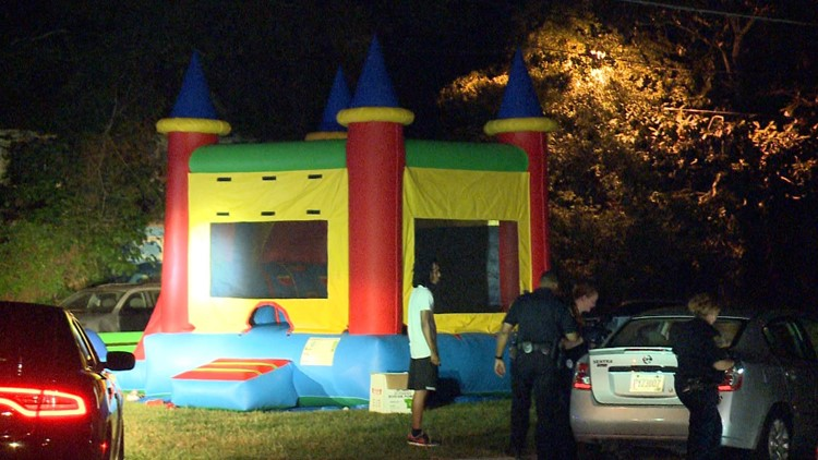 A little girl was shot and paralyzed as she played in a bouncy house  The  gunmen will now go to jail for 15 years