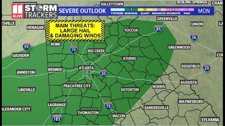 Storm Threat Monday