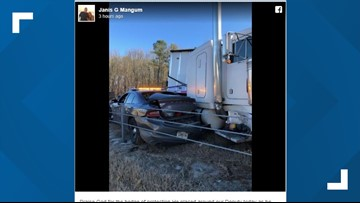Jackson County sheriff thanks God for 'hedge of protection' around deputy struck by semi