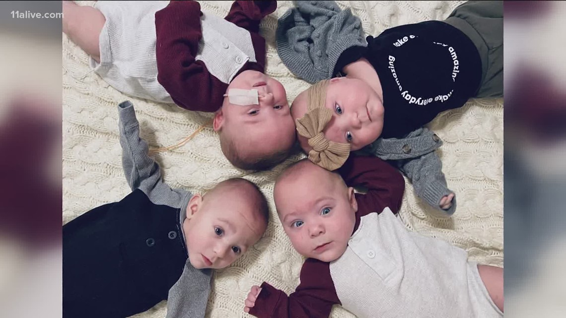 Mom welcomes quadruplets home following extended hospital stay during quarantine