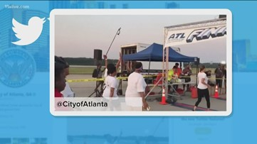 The 5K on the Fifth Runway was held Saturday morning