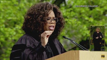 'Small steps lead to big accomplishments:' Oprah Winfrey speaks at Colorado College graduation