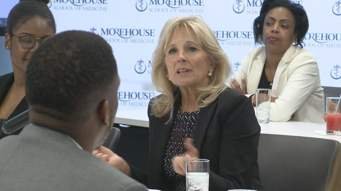 Jill Biden visits Morehouse School of Medicine for cancer