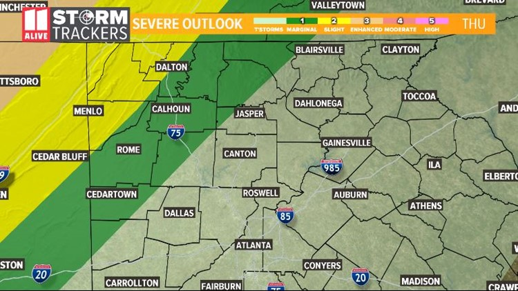 Severe Outlook Thursday 3-14