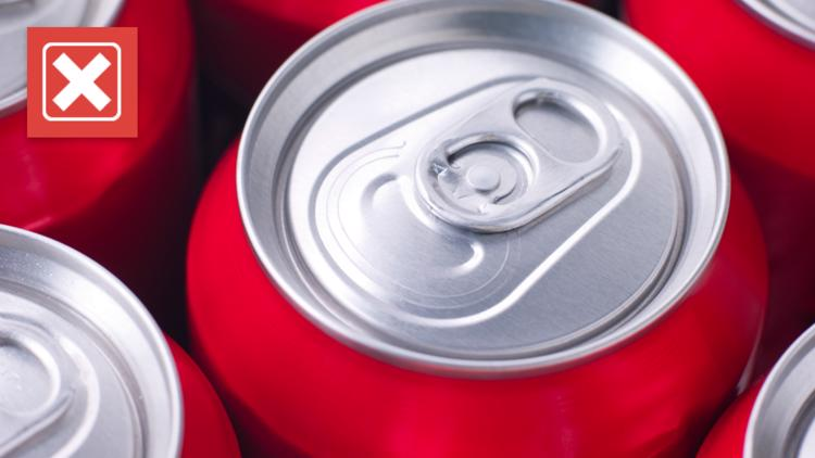 VERIFY: No, you won't get dementia from drinking from an aluminum soda can