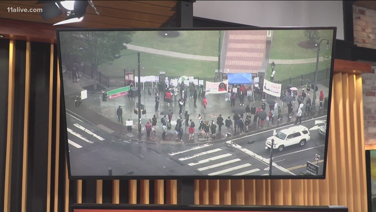 Rallies in Atlanta, Athens in protest of Daunte Wright shooting