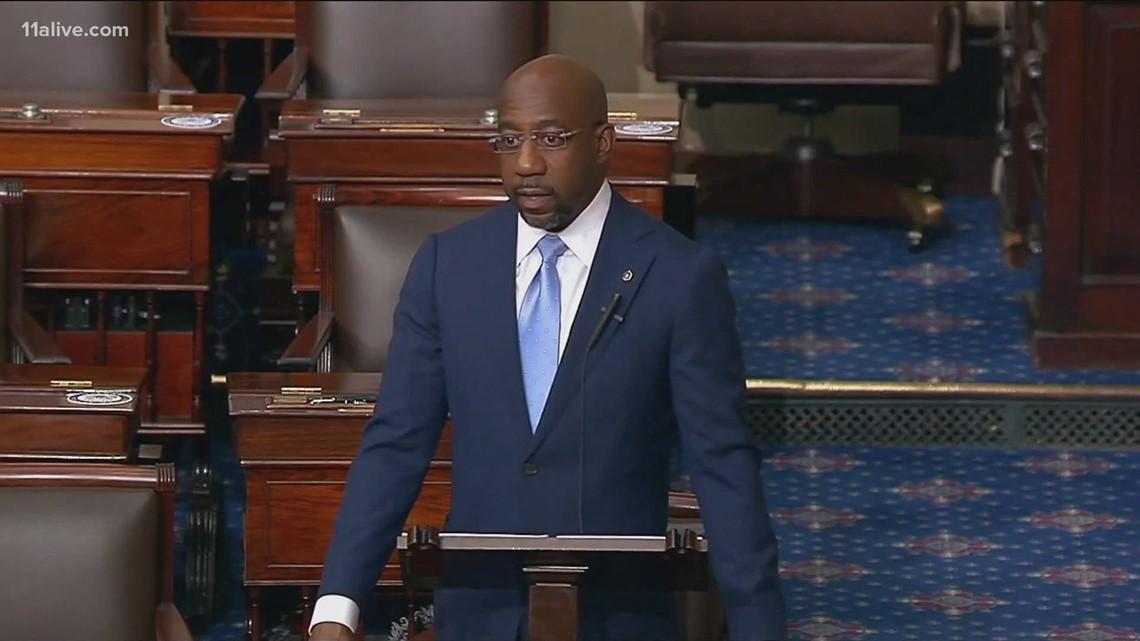 Sen. Warnock to testify over Georgia's controversial election law