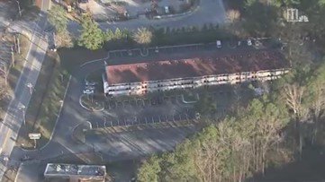 Scene of deadly triple shooting in Fulton County | Aerial video