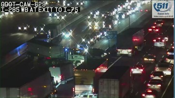 Traffic being rerouted off I-285 in Cobb County under major closure