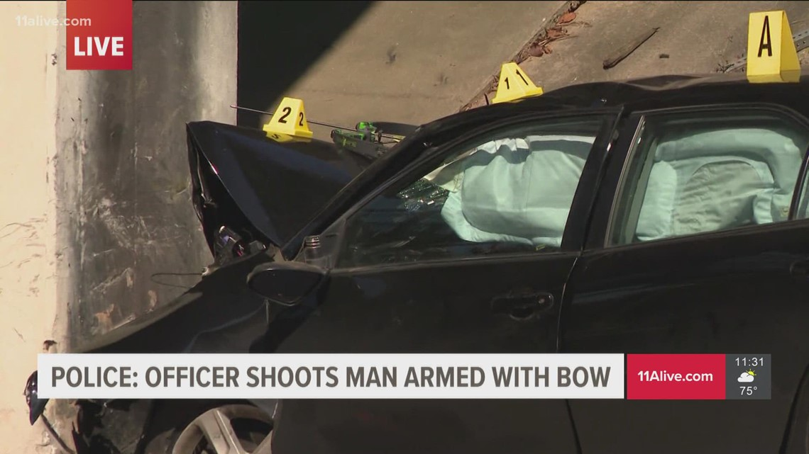 Marietta officer shoots man armed with bow and arrow, pointed it at them